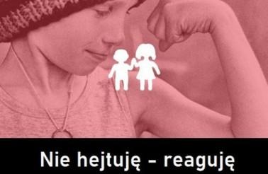 nie_hejtuje-reaguje plakat kampanii